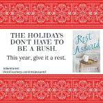 Give-away: Resist the rush and give it a rest!